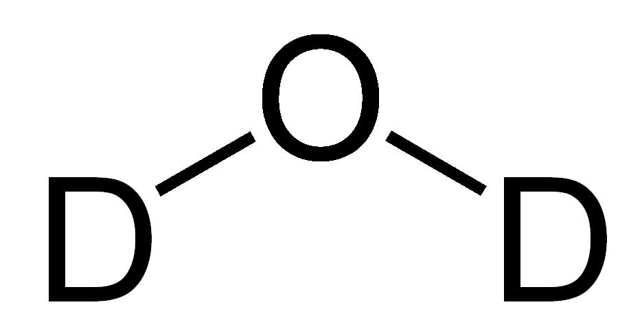 Тяжелая вода By Tritium-oxide-2D.png: Benjah-bmm27 derivative work: Kronf (Tritium-oxide-2D.png) [Public domain], via Wikimedia Commons https://commons.wikimedia.org/wiki/File%3ADeuterium-oxide-2D.PNG