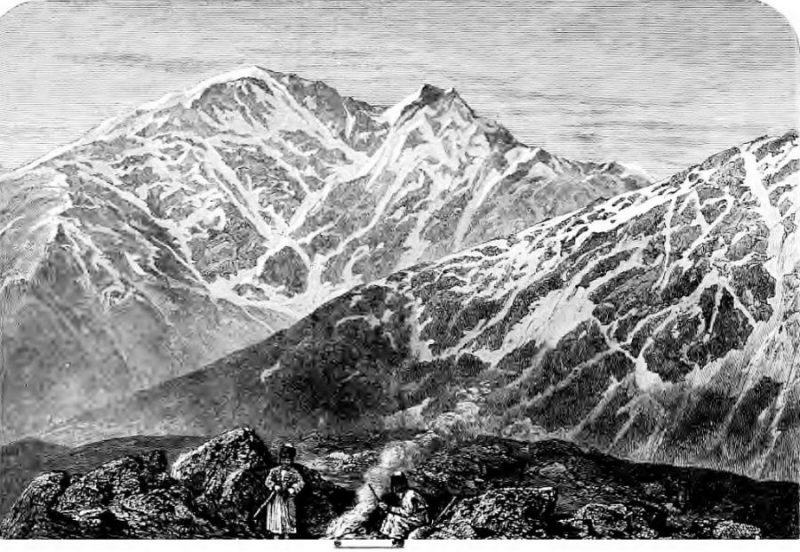 Эльбрус By Grove, Florence Craufurd (The frosty Caucasus) [Public domain], via Wikimedia Commons https://commons.wikimedia.org/wiki/File%3AELBERUZ%2C_'The_frosty_Caucasus'-_(1875).jpg