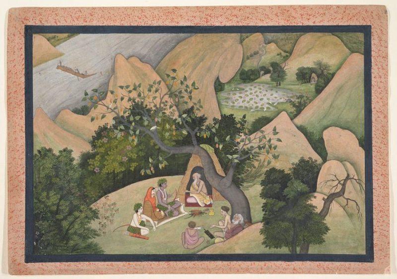 Rama - Sita - Lakshmana By Kangra workshop [Public domain], via Wikimedia Commons https://commons.wikimedia.org/wiki/File%3ARama%2C_Sita%2C_and_Lakshmana_at_the_Hermitage_of_Bharadvaja_Page_from_a_dispersed_Ramayana_(Story_of_King_Rama)%2C_ca._1780.jpg