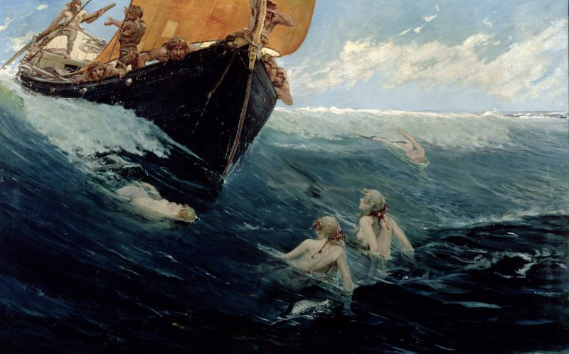 By Edward Matthew Hale (1852-1924) (Edward Matthew Hale, 1894) [Public domain], via Wikimedia Commons https://commons.wikimedia.org/wiki/File%3AThe_Mermaid's_Rock_-_Edward_Matthew_Hale_(1894).jpg Статья: Русалки - кто это или что это, миф или реальность